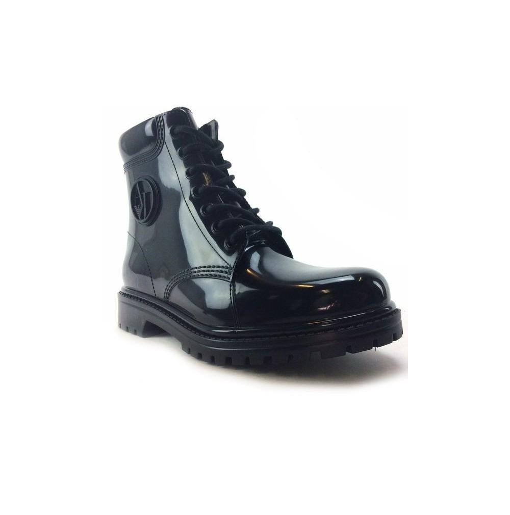 79aba1cffaa Bottes de pluie Armani Jeans b55k4 en synthétique noires