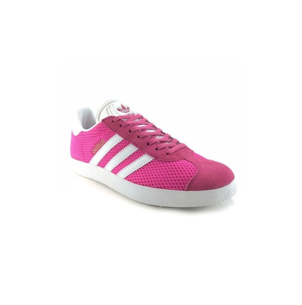 gazelle adidas femme rose et blanc