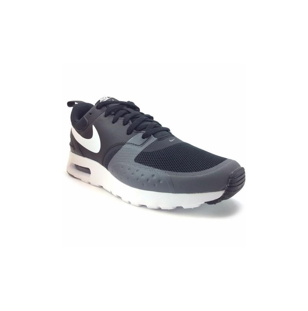 premium selection a7fba 344f3 Basket Basse Nike Air max vision ref   918230-005 noire, blanche et grise,  toile et cuir synthétique.