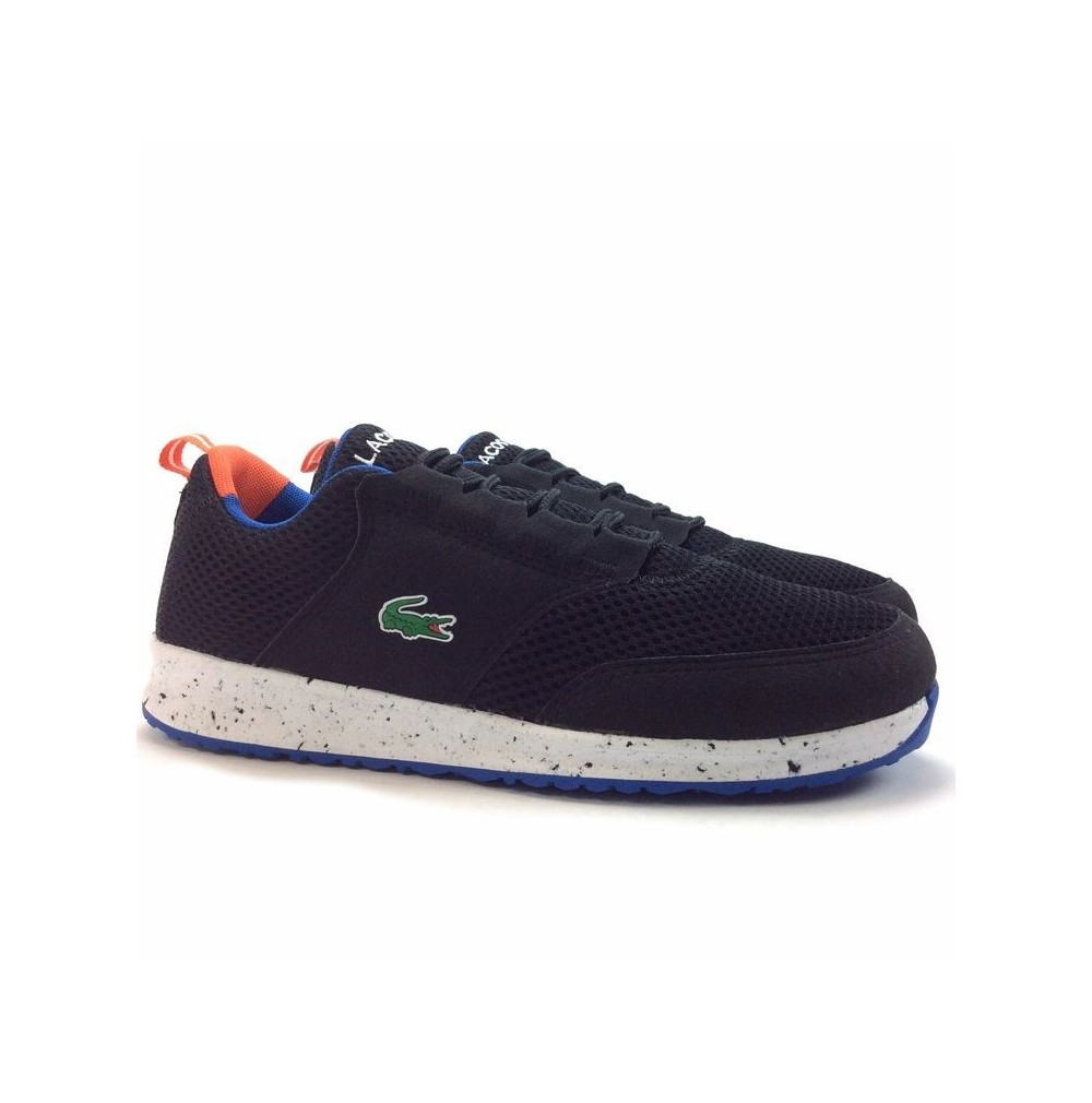 c7fd5bab9d Lacoste Light 118 7-35SPJ0006Z83 noir blanc orange synthétique