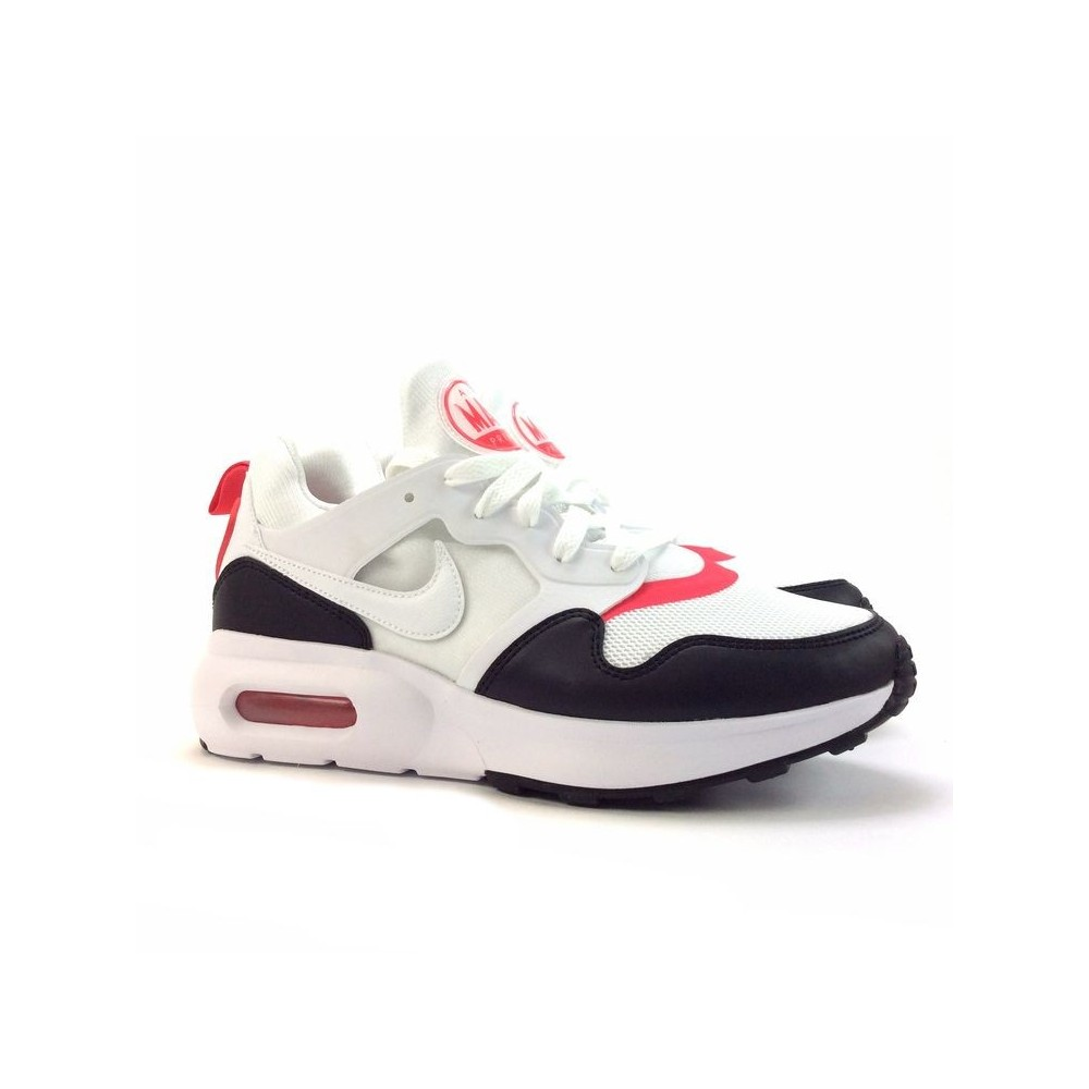 Nike Air Max Prime Blanc/Noir/Rouge Toile/Synthétique basket basse