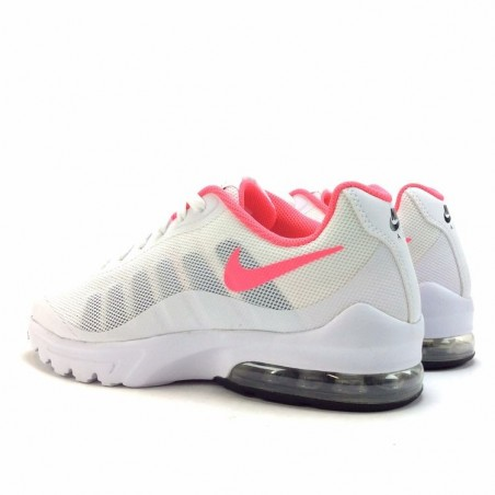 finest selection 5a072 e82a4 Basket Basse Nike Air Max Invigor ref   749572 103, blanche et rose en  nylon.