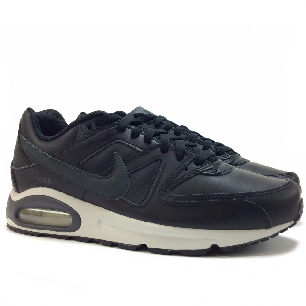 uk availability be91e 2fefc switzerland nike air max command leather ref 749760 001. de couleur noir en  cuir synthétique