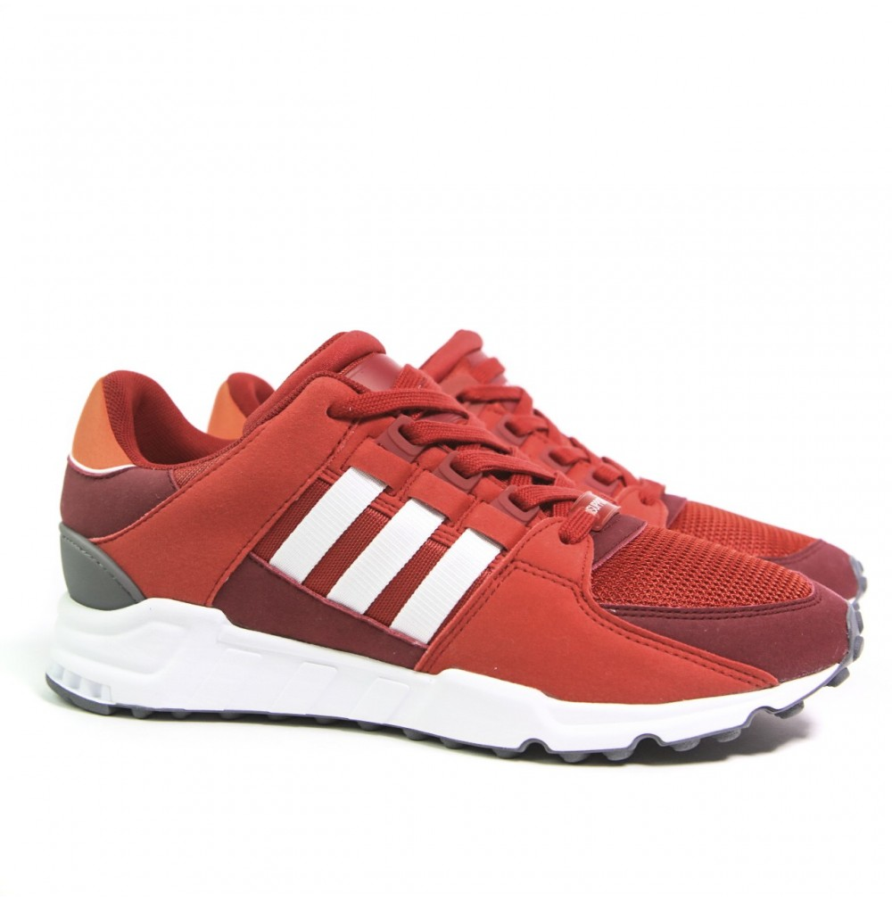 new product c4304 c430f Basket Basse Adidas EQT support RF ref  By9620 rouge toile et cuir.
