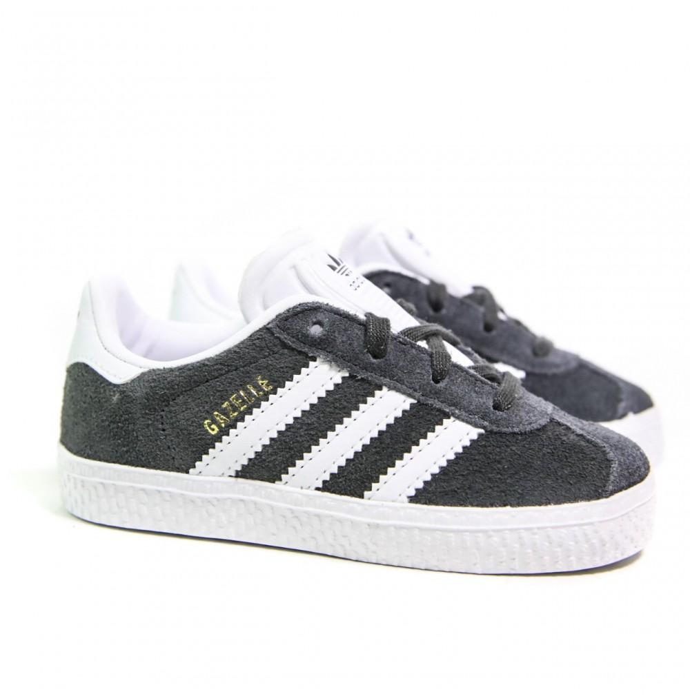 adidas gazelle cuir noir et blanc
