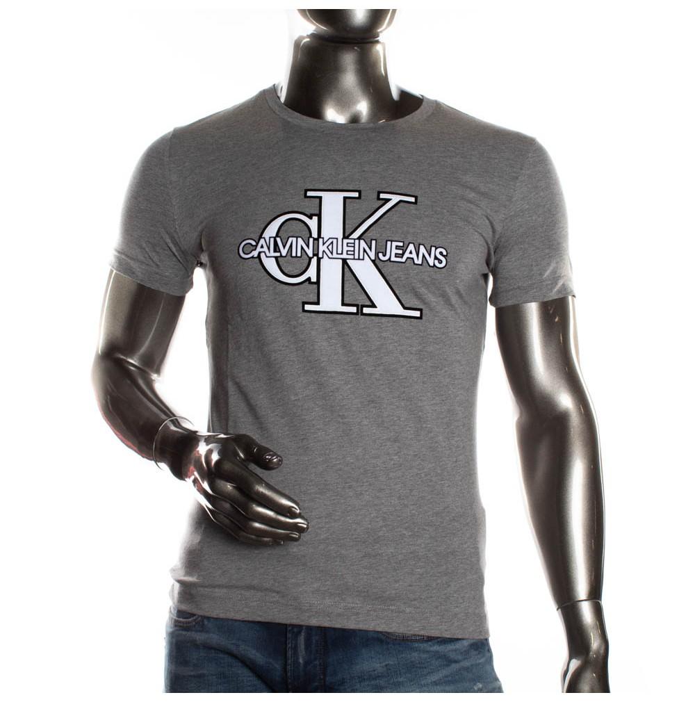 Femme Shirt Klein T Calvin Gris ULSVpqMzG