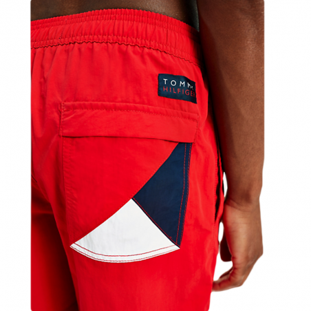 Short de bain homme Tommy Jeans Rouge Sf Medium Drawstring