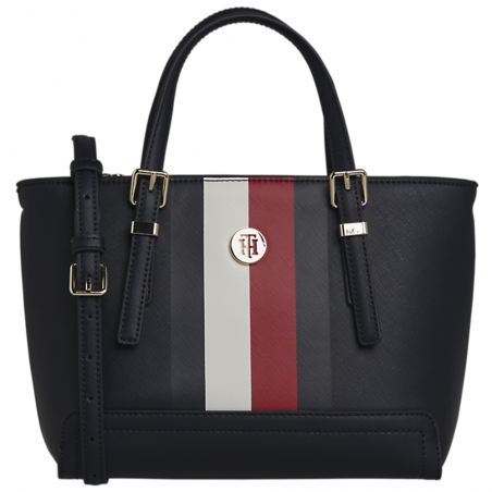 Sac a main femme Tommy Jeans Bleu Honey small tote corp