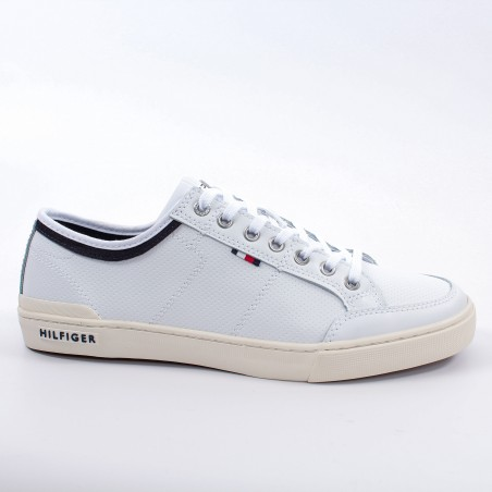Basket basse homme Tommy Jeans Blanc Core leather
