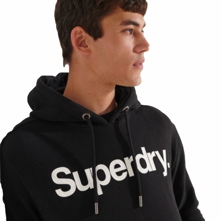 Sweat capuche homme Superdry Noir Big front logo
