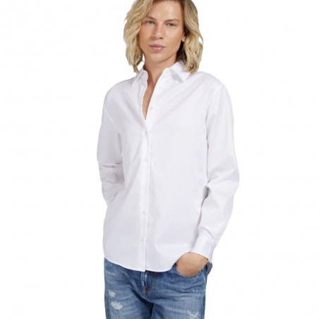 Chemise manches longues homme Guess Blanc Class